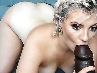 Smelly daughter sucks on her horny thick brown super dildo