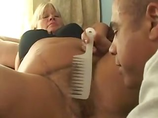 I love this granny's big fat cellulite ass and she is good at being on top
