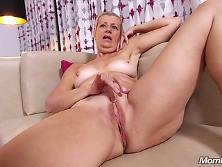 Blond Hair Granny Gets Nailed Hard in POV style