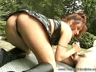 Another Groovy Handjob Experience With Sexy MILF Mama