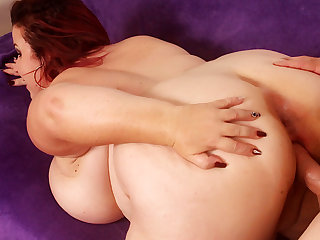 Fat Mature Redhead Lady Lynn Gets Her Plump Pussy Railed to Perfection