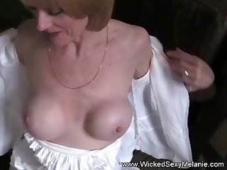Amateur Blonde GILF Sucks Cock While On her Cell Phone