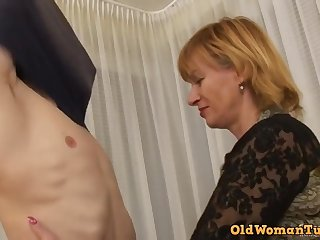 Teenie boy for a old whore - granny sex video