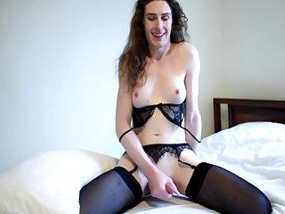 Hot shemale masturbation solo on TS dick Live Show