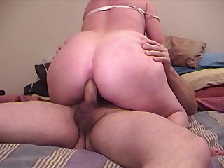 BBW blonde chick craving for friend's penis in her wet pussy