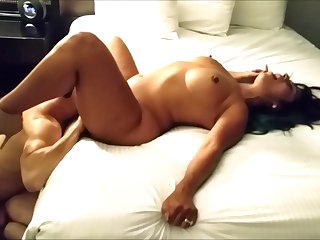 Arousing Darkhaired Hooker Fornicateed Hard In A Hotel