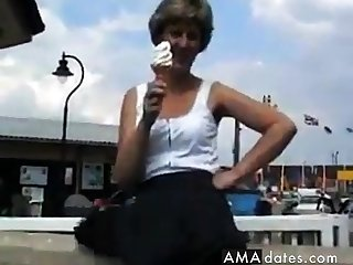 UK Sara, an ice cream in the sun