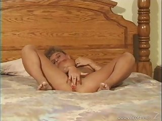 Adorable mature amateur with big boobs moans erotically while getting smashed on a bed