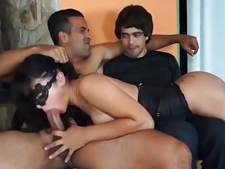Hardcore cuckold action with extra-hot masked MILF