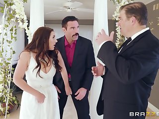 Mature bride Angela White cheats on groom right on the wedding